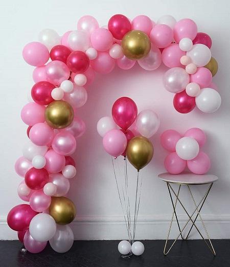100 Adet Metalik Balon + Balon Zinciri + Balon pompası
